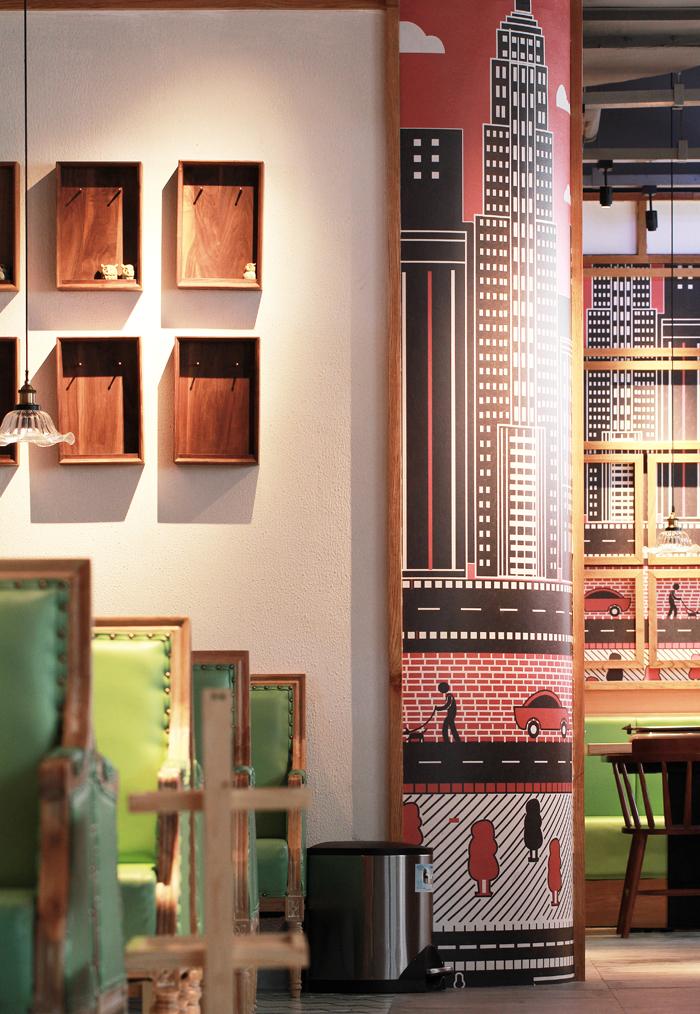 一个西瓜引发的创意餐厅设计-k鱼-纸上烤鱼_杭州象内